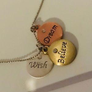 Wish Dream Believe Necklace inspirational